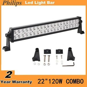 Philips 120w 22inch Led Light Bar Combo Off Road Car Boar Ford 4wd For Jeep Suv