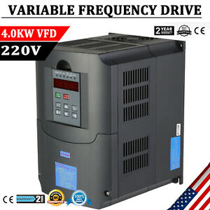 Updated 220v 4kw 5hp Variable Frequency Drive Inverter Vfd Cnc Vsd