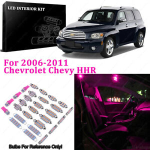 9 X Pink purple Led Interior Light Package For 2006 2011 Chevrolet Chevy Hhr