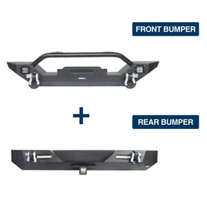 Front Bumper Rear Bumper W D Rings Bars Fit For Jeep Wrangler Tj 1997 2006