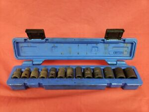 Cornwell Cbpl2m 3 8 Drive 6 Point 13 Piece Impact Socket Set W Hard Case