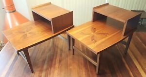 2 Pair Lane Mid Century Modern End Tables No 939 07 C 1960 Walnut Rosewood
