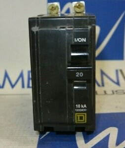 Qob220 Square D Breaker Qob 2 Pole 20 Amp Bolt On 120 240v 50 In Stock