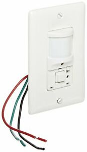 Hubbell Ws1277w Passive Infrared Wall Switch 1 Button White
