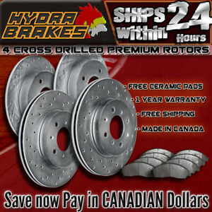 Fits 2003 2004 Ford Expedition 4wd Drilled Brake Rotors Ceramic
