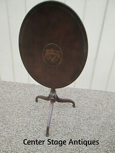 57111 Inlaid Phoenix Federal Tilt Top Lamp Table Stand