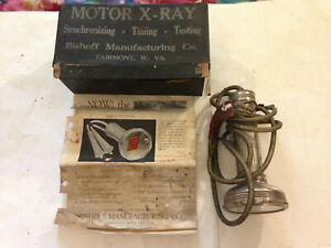 Rare Antique 1930 s Vintage Motor X Ray Timing Light In Box