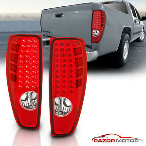 Led Style 2004 2012 Chevy Colorado Gmc Canyon Pickup Truck Red Tail Lights Pair