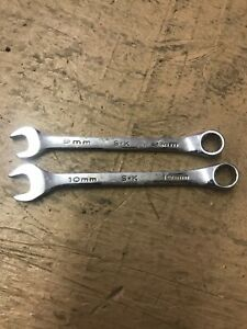 Genuine S K 88309 88310 9mm 10mm Forged Alloy Combination Wrenches Pair Usa