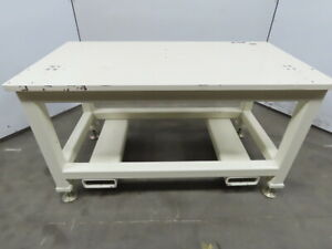 1 Thick Ground Top Steel Fabrication Layout Welding Table Work Bench 58x31