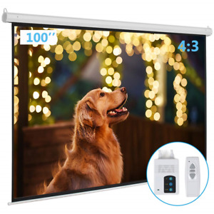Kshioe Motorized Projector Screen With Remote Control No Wrinkles Without Hd