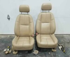 2007 2008 Gmc Denali Yukon Front Row Seat Set Tan Captains Tan Heated Cooled Oem