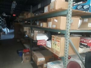 Pallet Rack Lot Of 4 8 Tear Drop Shelf Beams 2 8 Uprights Read Below First