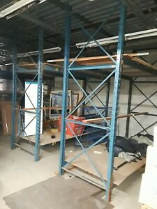 Pallet Rack Lot Of 2 10 Tear Drop Uprights 4 Beams Supports Read Below 1st