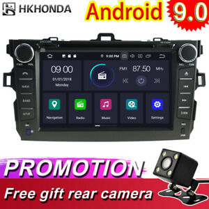 Android 9 0 Car Gps Radio Navi Stereo Video Player For Toyota Corolla 2007 2012