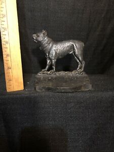 Vintage Bradley And Hubbard B And H Cast Iron Dog Bookend Doorstop