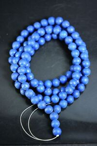 Exquisite Chinese Lapis Lazuli Prayer Ball Beads 108 Beads Necklace A1