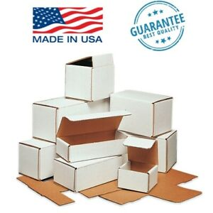 White Corrugated Mailers 50 Or 100 Pack Packing Mailing Shipping Storage