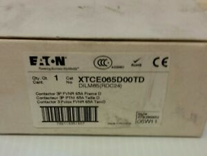Eaton Xtce065d00td 24vdc Non reversing Iec Magnetic Contractor 3p 65a New In Box