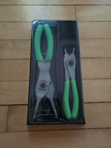 New Snap On Srpc102g 2 Pc Green Convertible Snap Ring Plier Set Free Priority