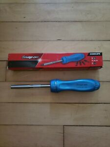 new Rare Snap On Ssdmr4bpb Pearl Blue Ratcheting Screwdriver Free Priority