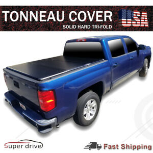 Premium Tri fold Hard Solid Tonneau Cover For 2007 2020 Toyota Tundra 5 5 Ft Bed