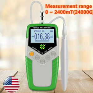 Digital Hand held Gauss Meter Surface Magnetic Field Tester Magnetic Flux Meter