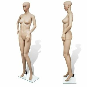 Realistic Female Mannequin Full Body Garment Displays With A Glass Base