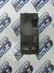 Square D Qob2125 125 Amp 2 Pole 240 Volt Breaker Yellow Warranty