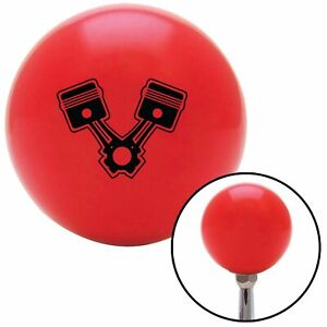 Black 2 Pistons Red Shift Knob With M16 X 1 5 Insert Xtreme Scta Spyder