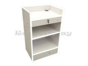 White Cash Register Stand Display Store Fixture Knocked Down sc scr cwx