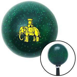 Golden Elephant Green Metal Flake Shift Knob With M16x1 5 Insert Drag Car Track
