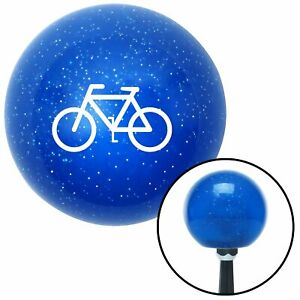 White Bicycle Blue Metal Flake Shift Knob Gear Mini Bike Modified Tpi Wholesale