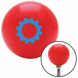 Blue Solid Gear Red Shift Knob With M16 X 1 5 Insert Mgb Jr Dragster Vintage