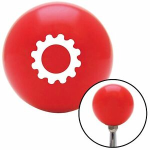 White Solid Gear Red Shift Knob With M16 X 1 5 Insert 956 Mini Bike Accessories