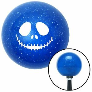 White Skull Face Blue Metal Flake Shift Knob Mgb Gear 426 Accessories Vintage