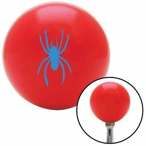 Blue Spider Image Red Shift Knob With M16 X 1 5 Insert Socal Mgb Go Kart Parts