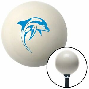 Blue Marine Dolphin 2 Ivory Shift Knob With 16mm X 1 5 Insert Race Parts Sbc