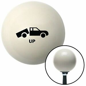 Black Automotive Dump Bed Up Ivory Shift Knob With 16mm X 1 5 Insert Racing