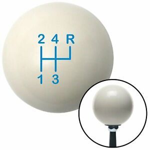 Blue Shift Pattern 5n Ivory Shift Knob With M16x1 5 Insert Street Rod Project