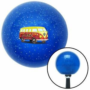 Hippie Bus Blue Metal Flake Shift Knob With M16x1 5 Insert Project Streetrod