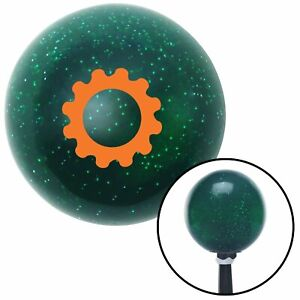 Orange Solid Gear Green Metal Flake Shift Knob With 16mm X 1 5 Insert Mini Bike