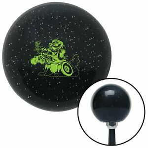 Green Hot Rodder Black Metal Flake Shift Knob With M16x1 5 Insert Parts Gasser
