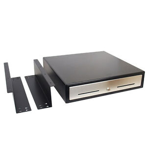 New Under Counter Automatic 18 Pos Cash Drawer With Mounting Bracket Restaurant