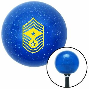 Yellow Command Chief Master Sergeant Blue Metal Flake Shift Knob Mgb Parts