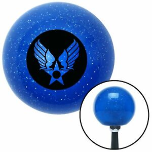 Black Army Air Corps Blue Metal Flake Shift Knob Matchless Gear Mini Bike