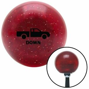 Black Automotive Dump Bed Down Red Metal Flake Shift Knob With 16mm X 1 5 Insert
