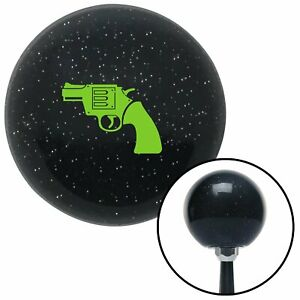 Green Gun Black Metal Flake Shift Knob With M16x1 5 Insert Auto Ltr Gear