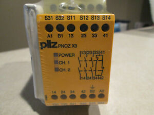 New Pilz 774316 Safety Relay Pnoz X3 120vac 24vdc Nifp new