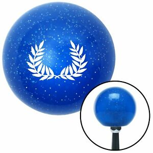 White 2 Branches Pointing Up Blue Metal Flake Shift Knob Classic Hot Rod Model T